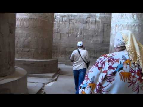 Dendera temple with Mohamed Abdel Galil.