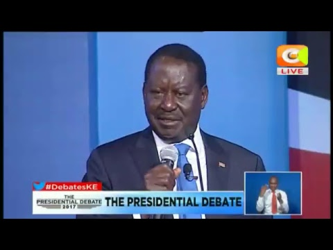 NASA Presidential Candidate Raila Odinga Full Speech during the Presidential Debate 24/07/2017