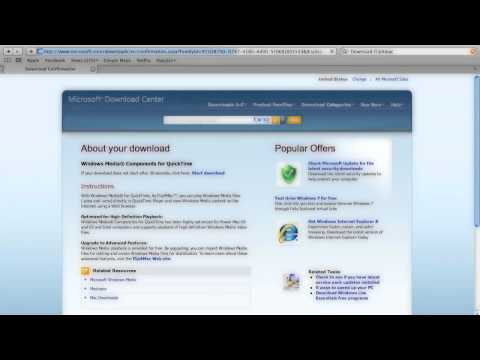 TUTORIAL! (How to SEE wma, wmv, AVI on a mac) *REQUIRES DOWNLOAD*