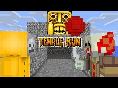 Monster School: TEMPLE RUN VS IT THE CLOWN Challenge - Minecraft Animations