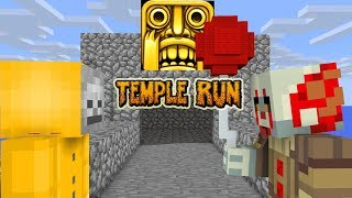 Monster School: TEMPLE RUN CHALLENGE VS PENNYWISE - Minecraft Animations
