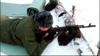 AK-74 shooting and assembling/disassembling