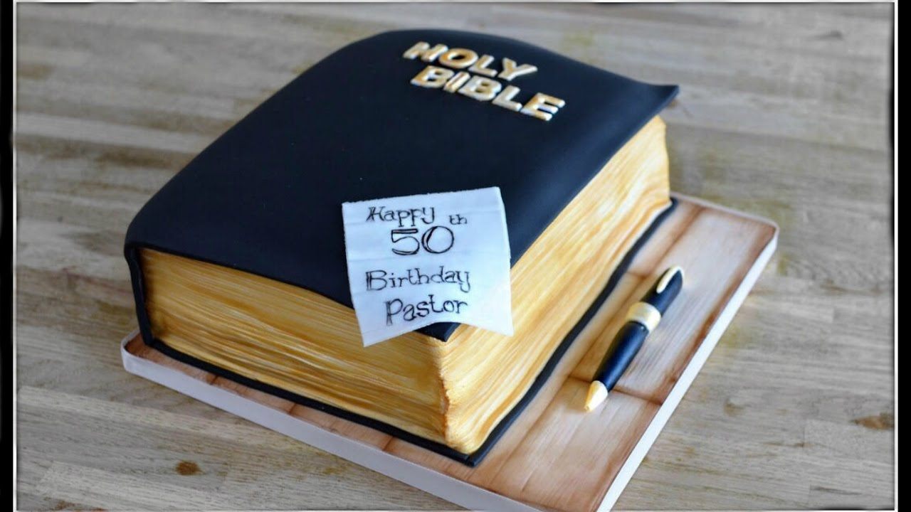 Bible Cake Tutorial 3d Book Cake Youtube