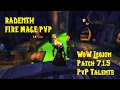 Mage Fire PvP WoW Legion 7 1 5 Talents PvP Talents mp3
