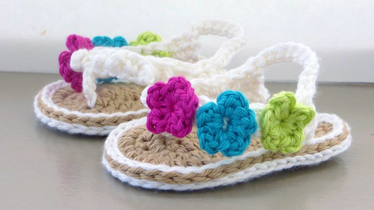 Crochet Baby Sandals Tutorial Youtube