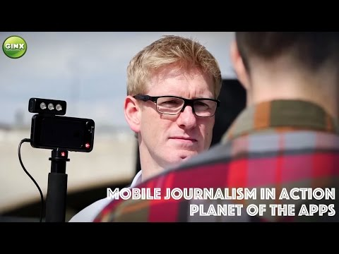 Smartphone Filmmaking - Mobile Journalism in Action - London South Bank Skatepark | Ginx TV