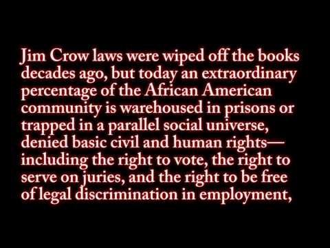 The New Jim Crow: Mass incareration By Michelle Alexander