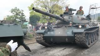 74式戦車の移動.