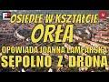Sępolno - unikatowe miejsce w skali Europy. Osiedle w kształcie wielkiego orła widziane z lotu ptaka
