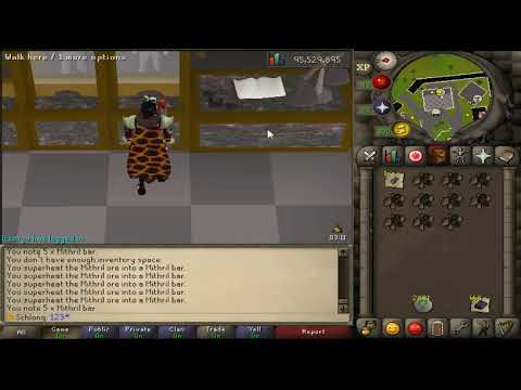 Fastest Smithing Method for Bars Per hour - Iron/ HC/ Classic/ EIM