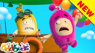 ODDBODS   Fly Away With Balloons   Cartoon for Kids