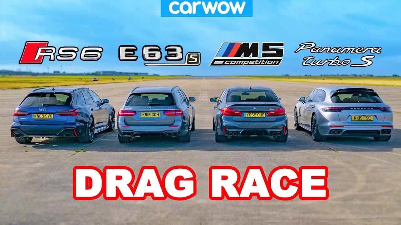 Audi RS6 vs BMW M5 vs AMG E63 vs Porsche Panamera - DRAG RACE