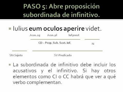 Proposiciones Sustantivas De Infinitivo En Latín