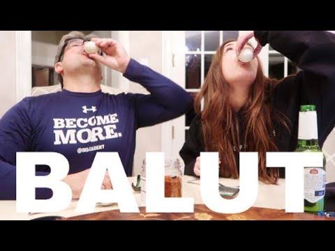 BALUT TASTE TEST :: AMERICANS TRY BALUT :: MARK FABLE + (KATHY FABLE BTS)