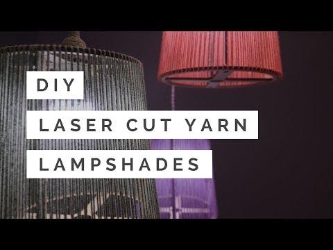 DIY Laser Cut Yarn Lampshades (EASY Homemade Decor!)