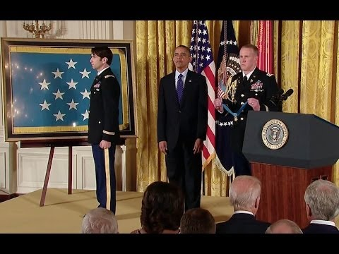 President Obama awards Captain William Swenson, U.S. Army, the Medal of Honor