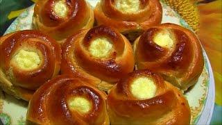 Ватрушки (розочки) с творогом рецепт Cheesecake (rose) with cream cheese recipe