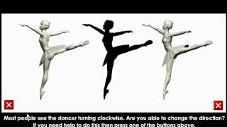 The spinning silhouette illusion (aka the spinning dancer illusion)