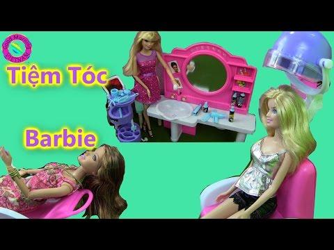 💞Tiệm Tóc Mới  Của Barbie  (Bí Đỏ)❤ Barbie