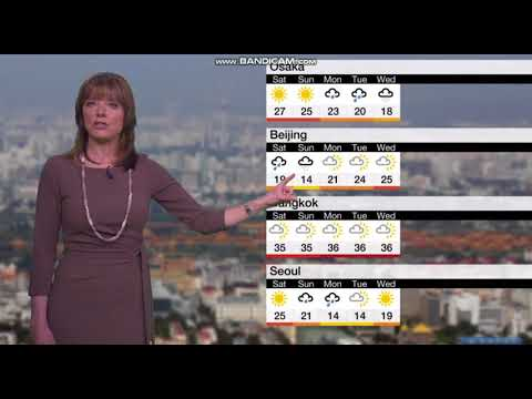 Louise Lear BBC World Weather April 20th 2018