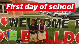 Twins First day of school!