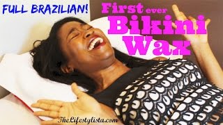 Repeat youtube video My first BRAZILIAN / BIKINI WAX !!! Down there... Lawks!
