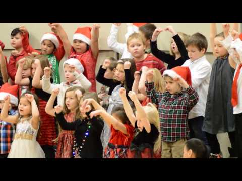 Ellie's Warroad Elementary School Kindergarten Class Christmas concert 2016 song 6