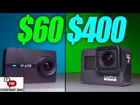 The MOST EXPENSIVE VS The LEAST EXPENSIVE Action Camera Battle!  GoPro Hero 7 Black vs Yi Lite!