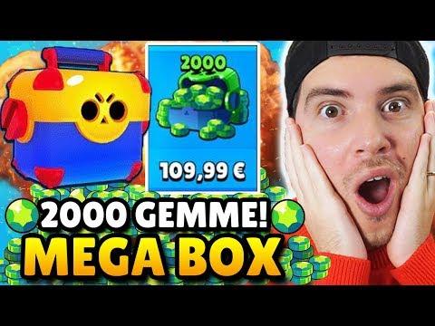 HO SPESO 110 EURO!! 2000 GEMME In MEGA BOX OPENING!! - BRAWL STARS ITA
