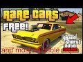 GTA 5 - FREE SECRET RARE CARS LOCATIONS IN GTA ONLINE! RARE STORABLE CARS( MOST VALUABLE)