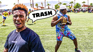THE MOST TERRIBLE QB I'VE EVER SEEN.. WE HAD TO ROAST HIM! (7ON7 PT. 2 W/ AJ GREENE)