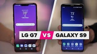LG G7 vs Galaxy S9: Design comparison