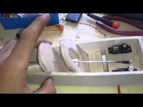 Homemade balsa design rc plane