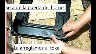 Como reparar la puerta del horno , no cierra part 1