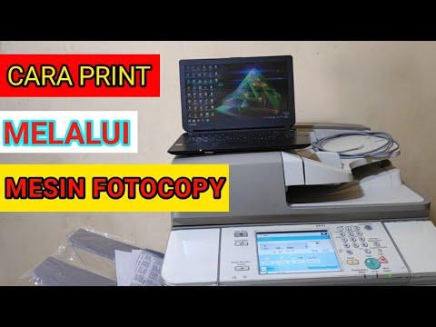 Cara menghubungkan mesin fotocopy ke komputer ira6275 - YouTube
