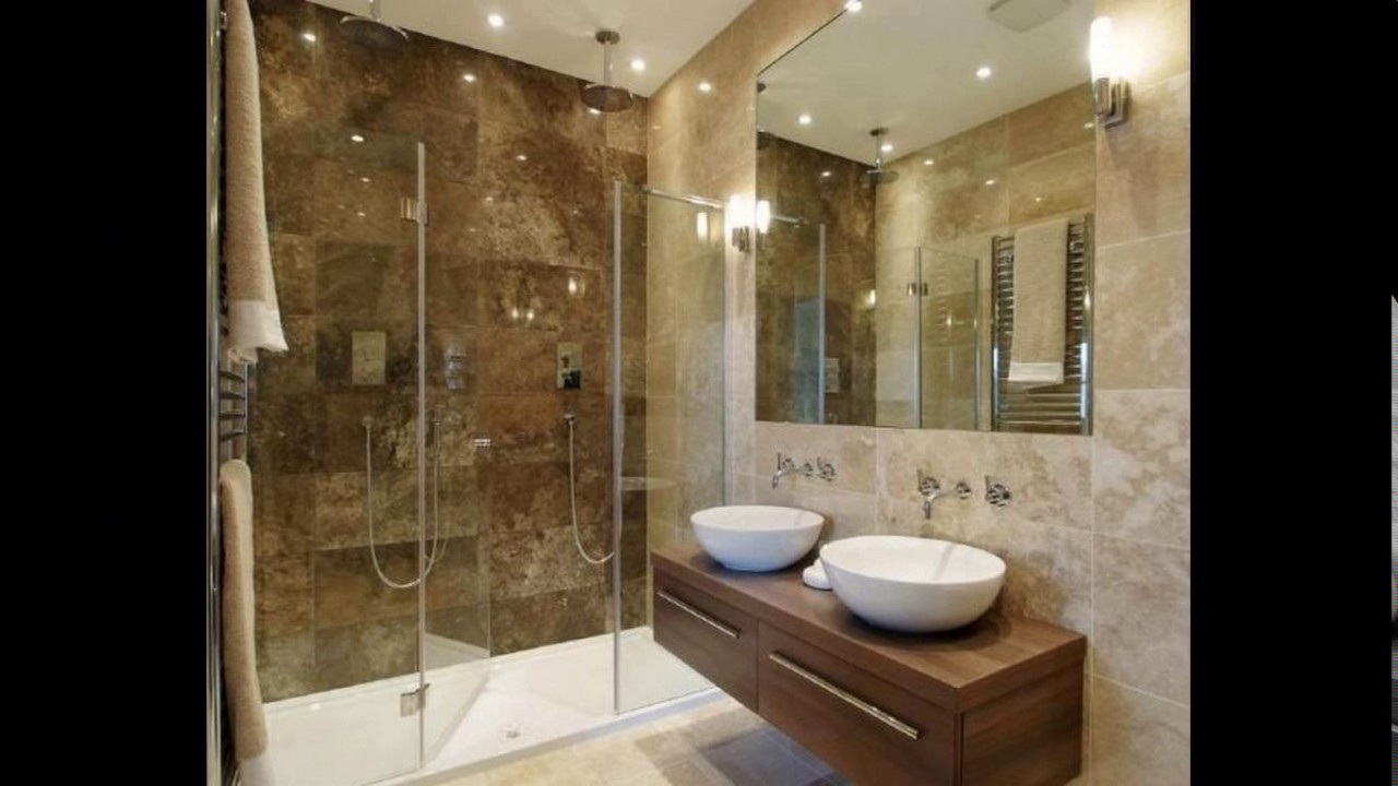 Small ensuite bathroom designs - YouTube