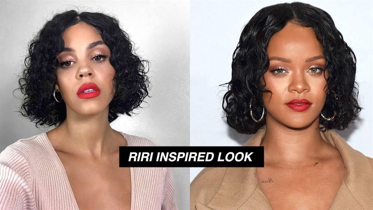RIHANNA INSPIRED WET LOOK AND MAKEUP FT JULIA HAIR