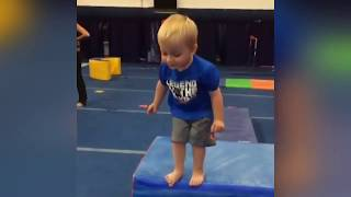 try not to laugh Funny Kid Gymnastic Fails - funny videos