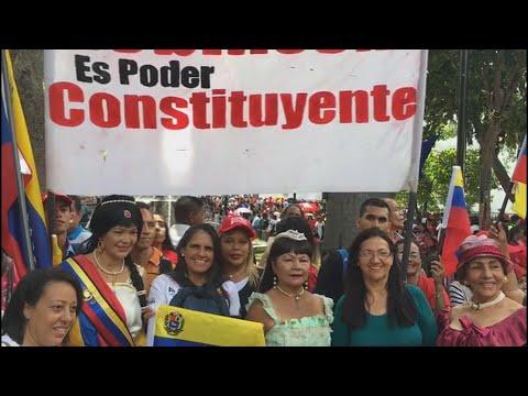 Chavistas Marchan En Apoyo De La Instalación De La Asamblea Constituyente