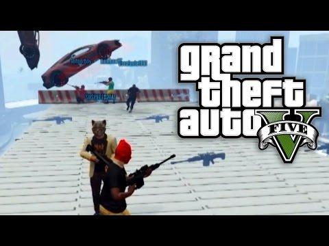 GTA 5 Online - SNIPING STUNTERS IN THE SNOW! (GTA V Online)