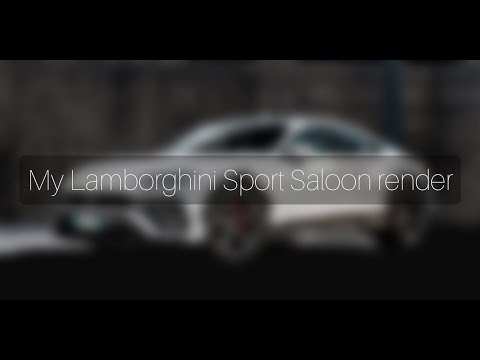 My Lamborghini Sport Saloon render