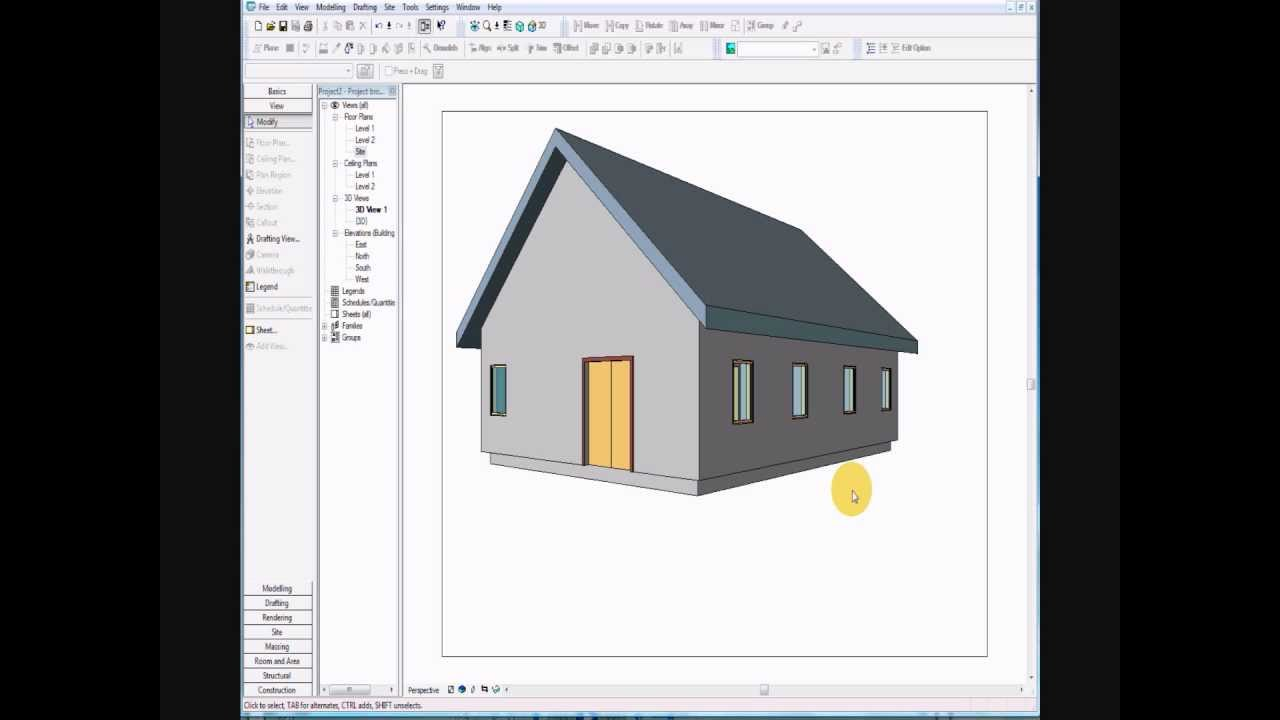 Revit - Two Story House 1 - YouTube