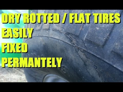 Fix Dry Rotted / Flat tires on Lawn Equipment ATVs