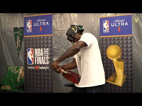 All Access: Exclusive Look Inside The Bucks Locker Room During NBA Finals Championship Celebrations