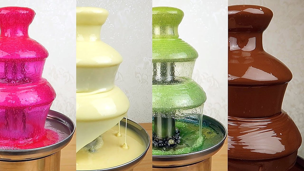 Шоколадный фонтан-фондю Chocolate Fountain высота 25 см - YouTube