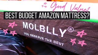 Molblly 20CM Mattress | Best AMAZON Budget Mattress?! | Double Memory Foam | UNBOXING & REVIEW