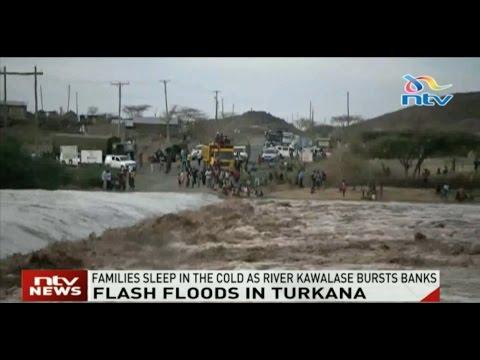Flash floods in Turkana paralyze transport as River Kawalase burst its banks
