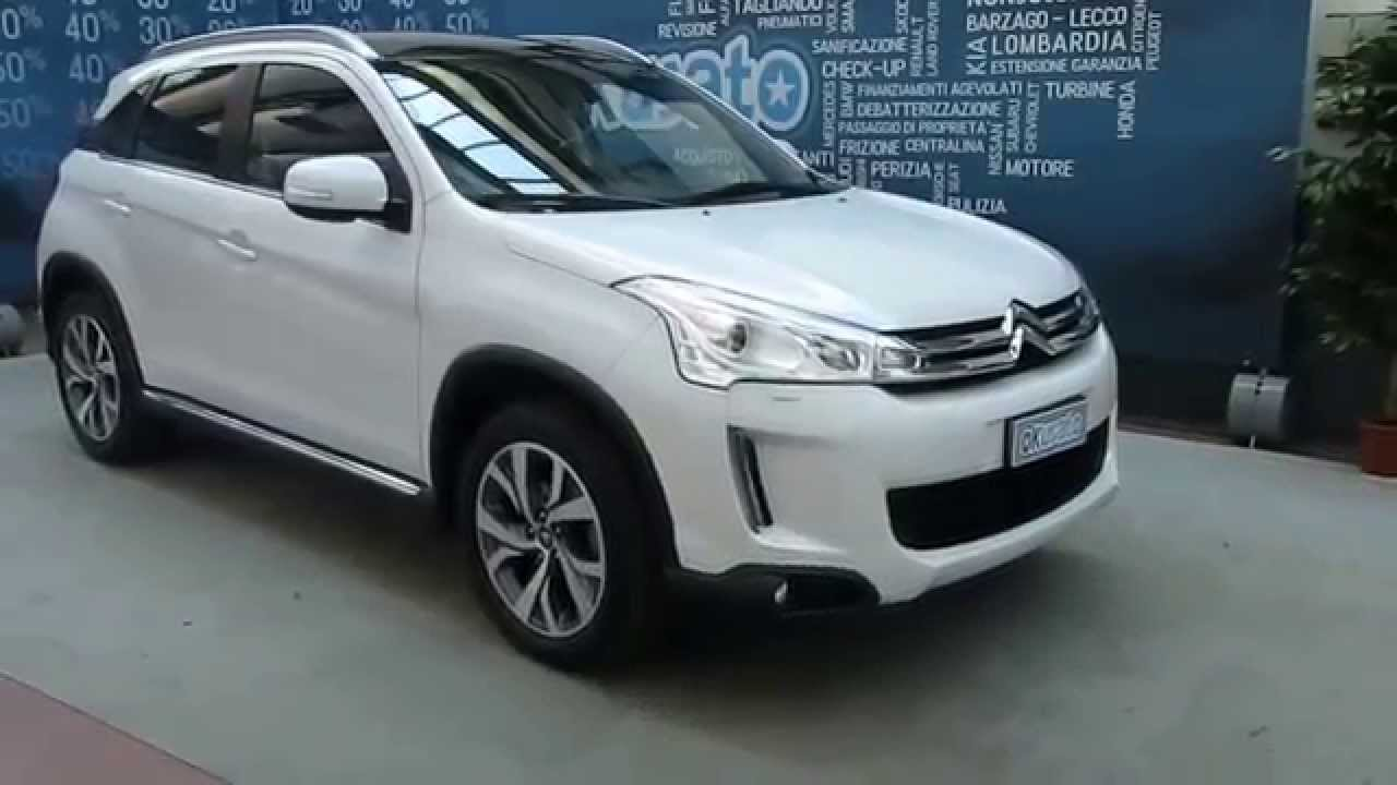 citroen c4 aircross crossover 1 8 diesel 4x4 exclusive km 0 aziendali e usate youtube. Black Bedroom Furniture Sets. Home Design Ideas