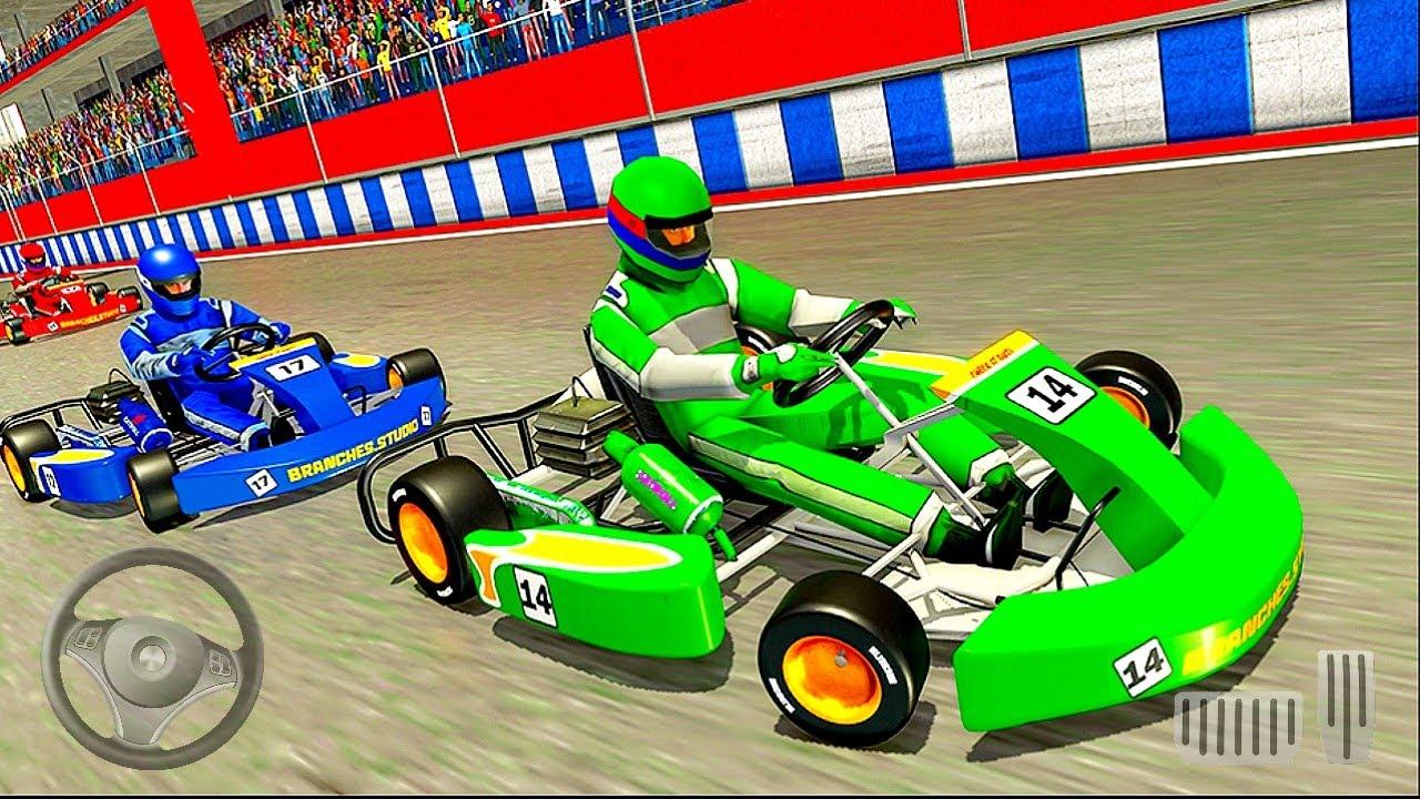 Download go kart jeux de course de voiture: jeux de voiture - jeux Android gameplay