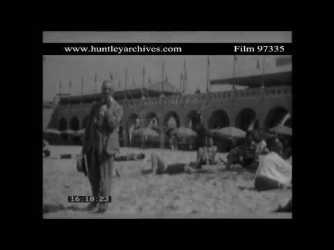 Bathing Beach in Havana, Cuba around 1929.  Archive film 97335